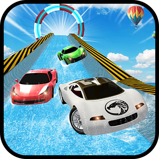 Water Slide Sports Cars Extreme Stunts
