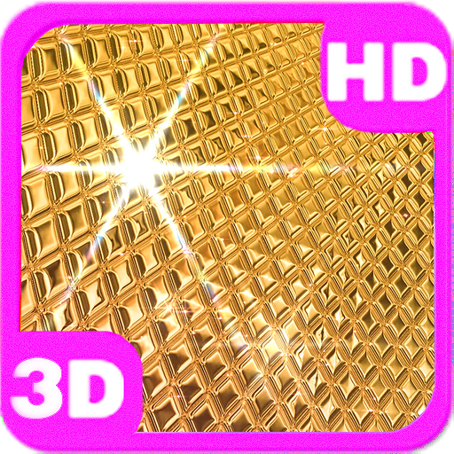 Amazing Golden Disco Ball 3D