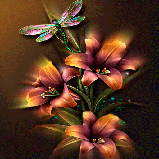 Animated Flowers Live Wallpaper