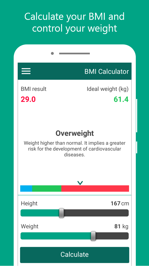 BMI Calculator - Body Mass Index and Ideal Weight - Weight loss