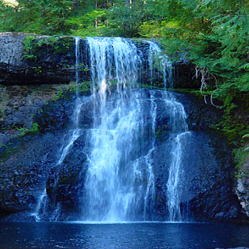Forest Blue Waterfall LWP