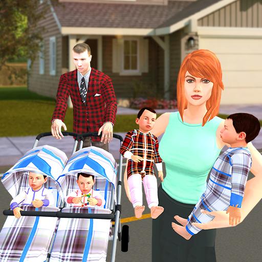 New Born Baby Quadruplets: Mother Sim