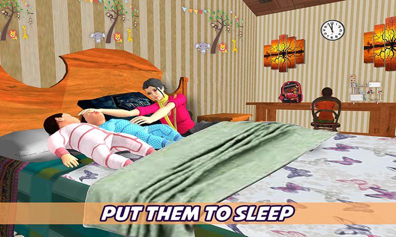 Virtual Nanny Babysitting Family Simulator