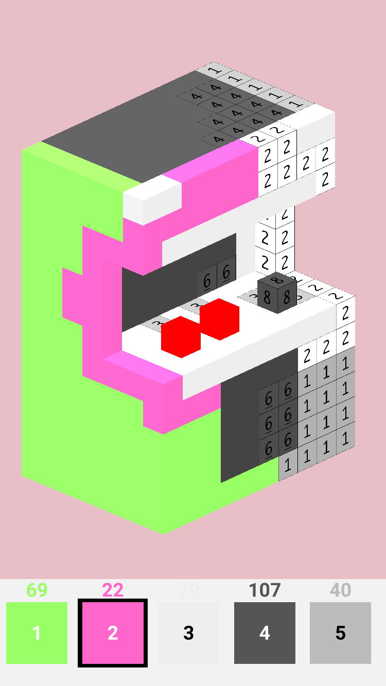Voxelr - Color by Number 3D Coloring
