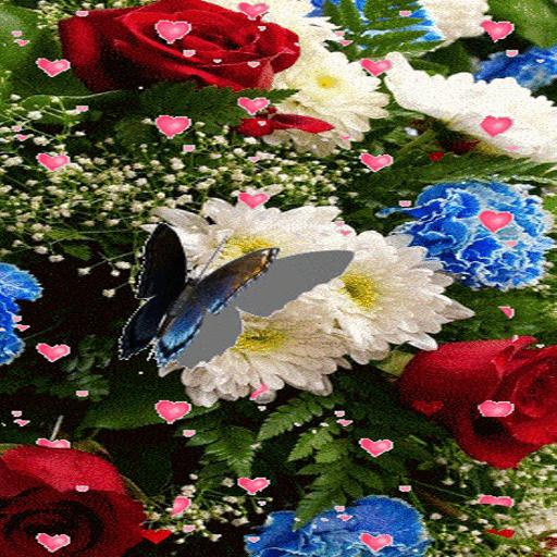 Butterfly Flowers LWP