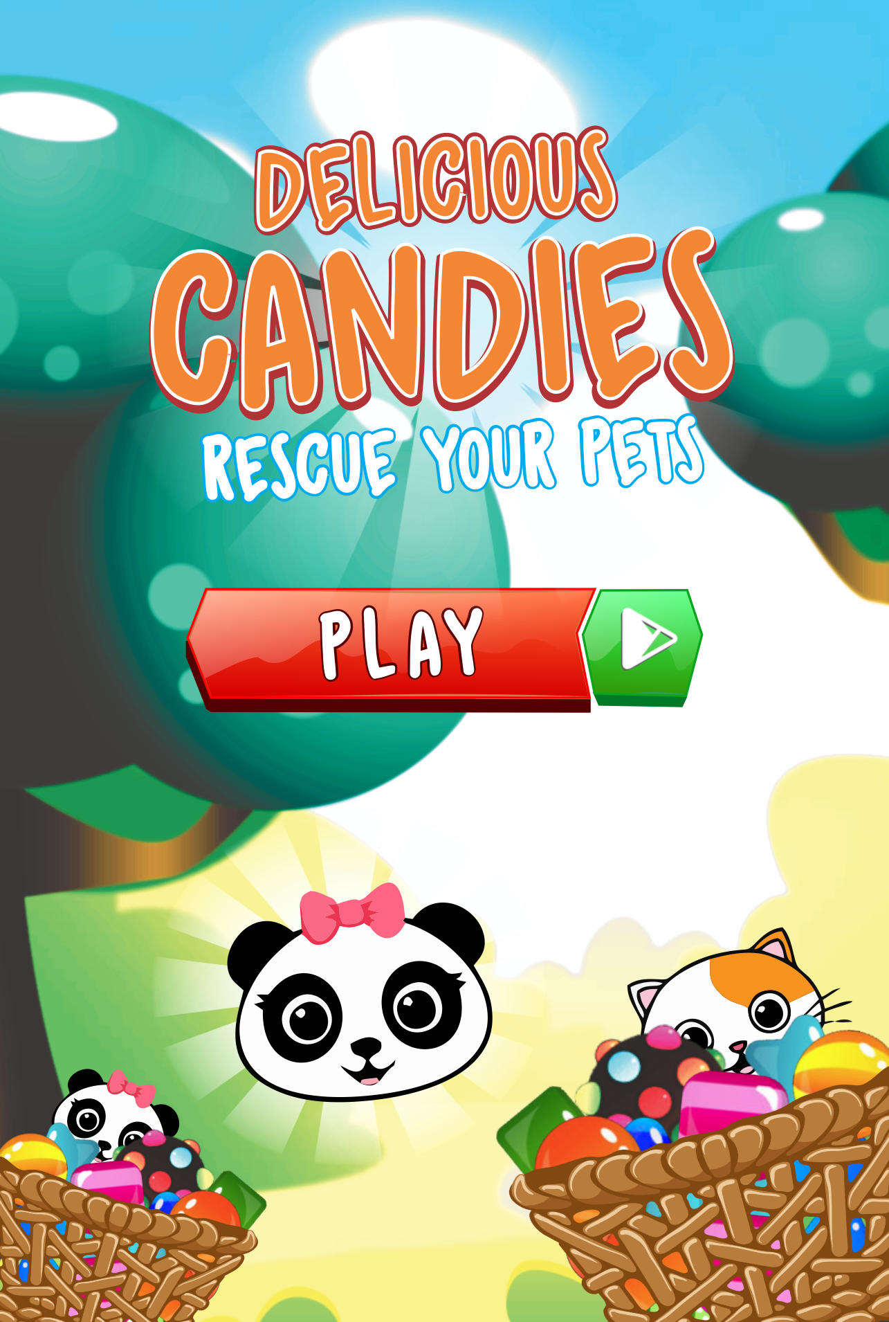 Candies Match 3 : Rescue Your Pets