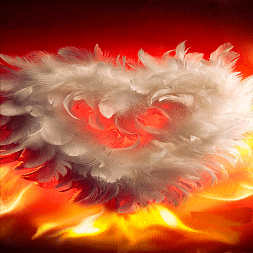 Fiery Wings Heart LWP