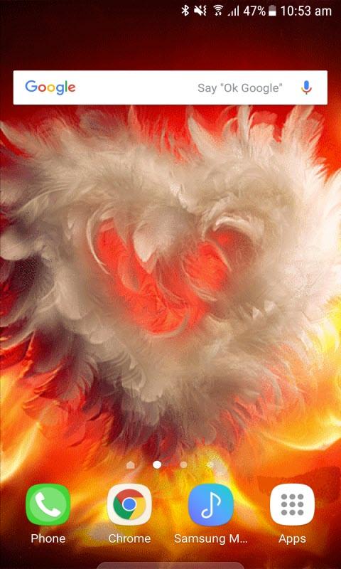 Fiery Wings Heart LWP