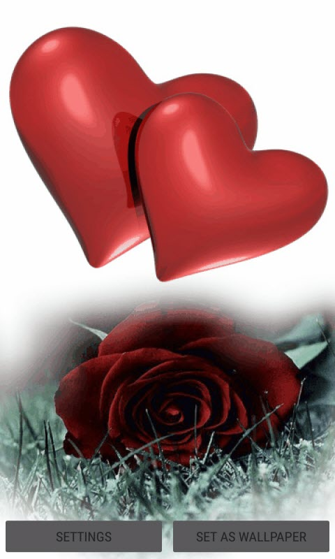 Hearts With Rose LWP