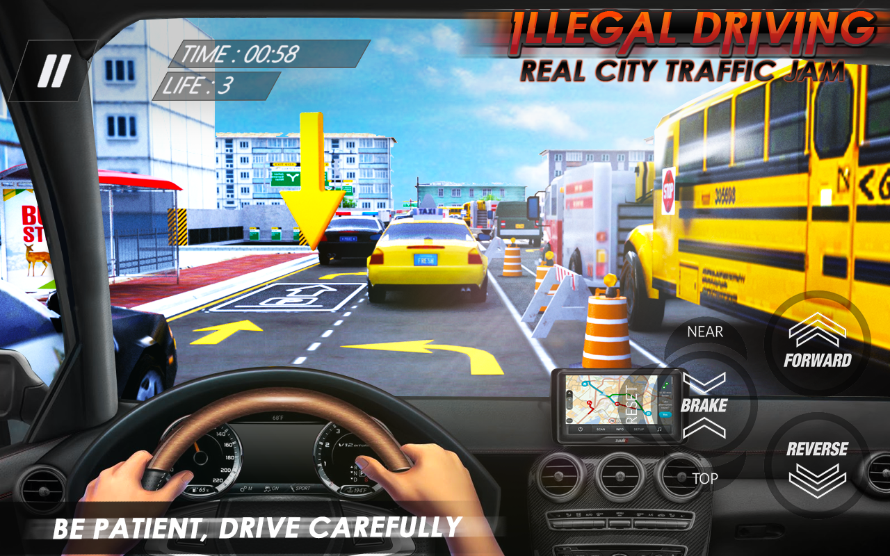 Illegal Driving Real City Traffic Jam