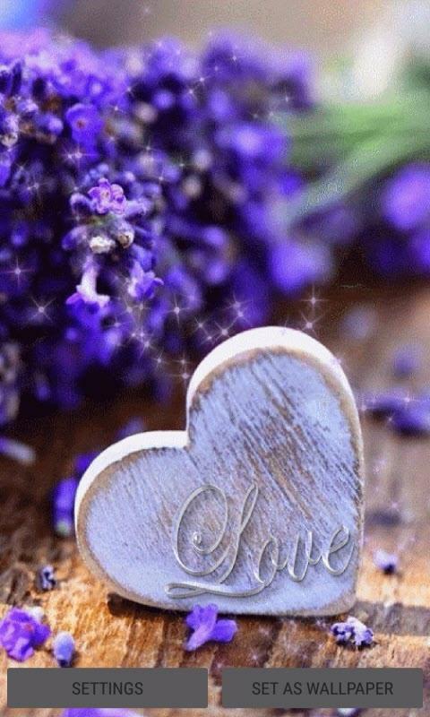 Purple Flowers Heart LWP
