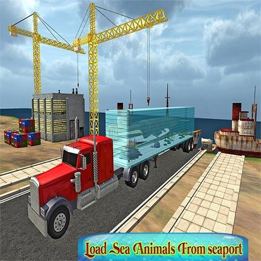 Transport Truck Sea Animals