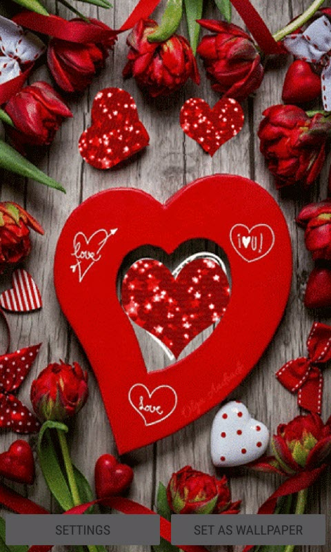 Valentine Hearts Live Wallpaper