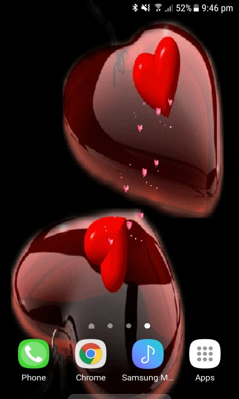 Valentine Red Hearts LWP