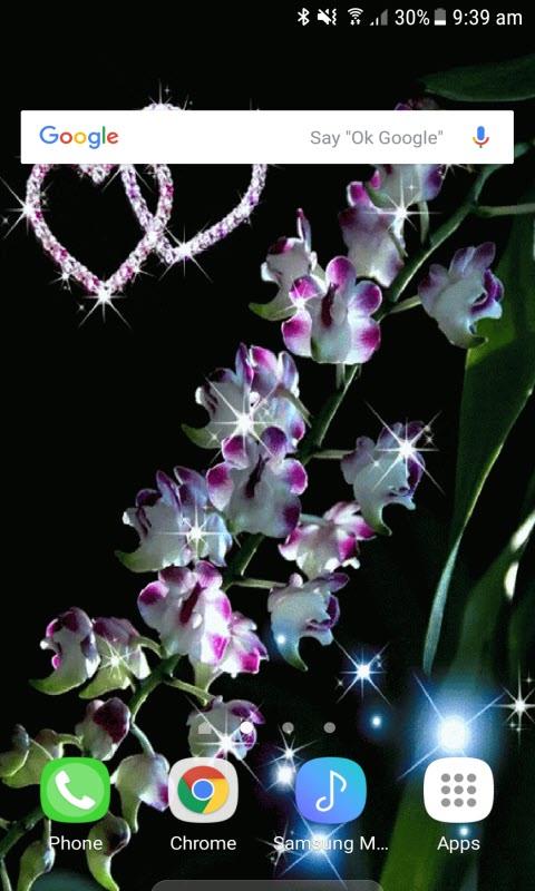 White Flowers Heart LWP