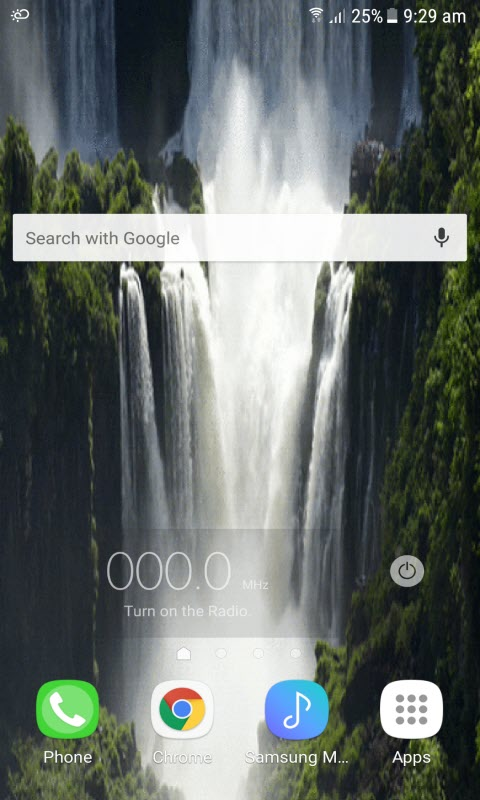 Hilly Waterfall Live Wallpaper