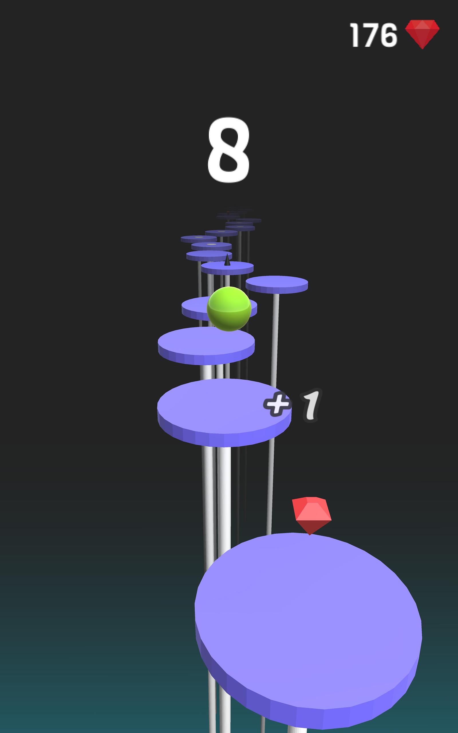 Splashy Ball: Jump on Spiky Tiles