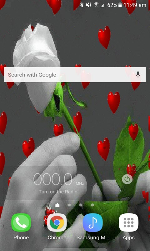 Valentine White Rose LWP