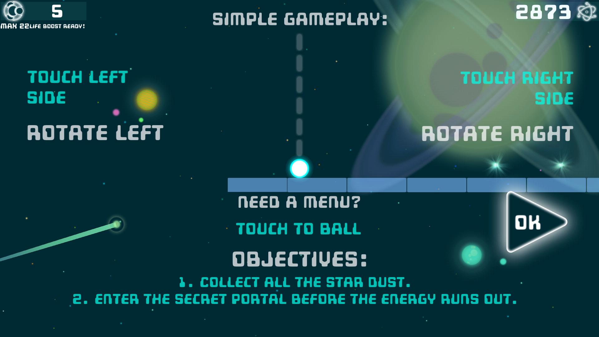 A Star is Born - 2D Arcade Space Ball Game