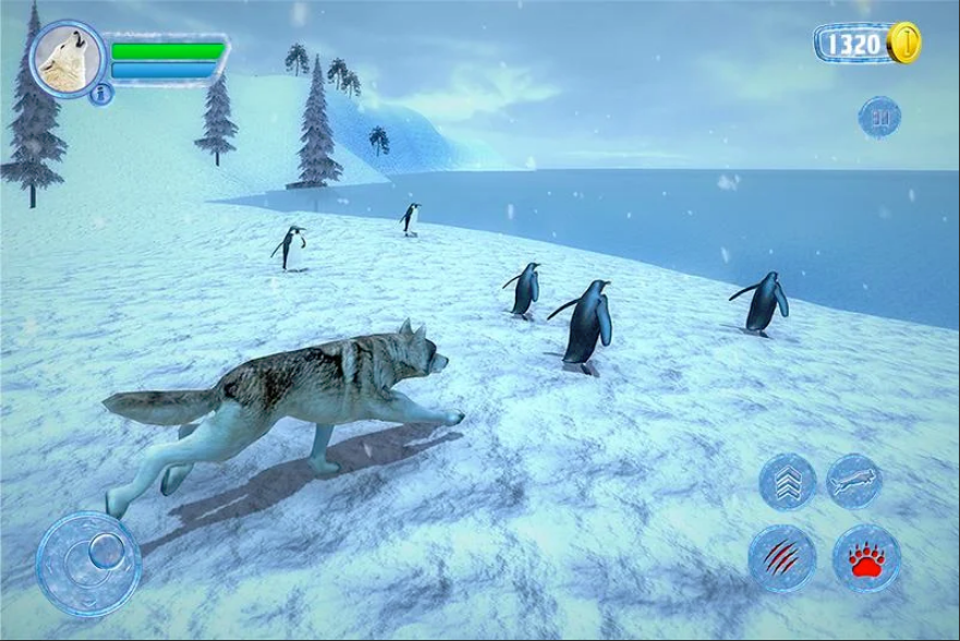 Arctic Wolf Sim 3D - Wild Animal Running Game