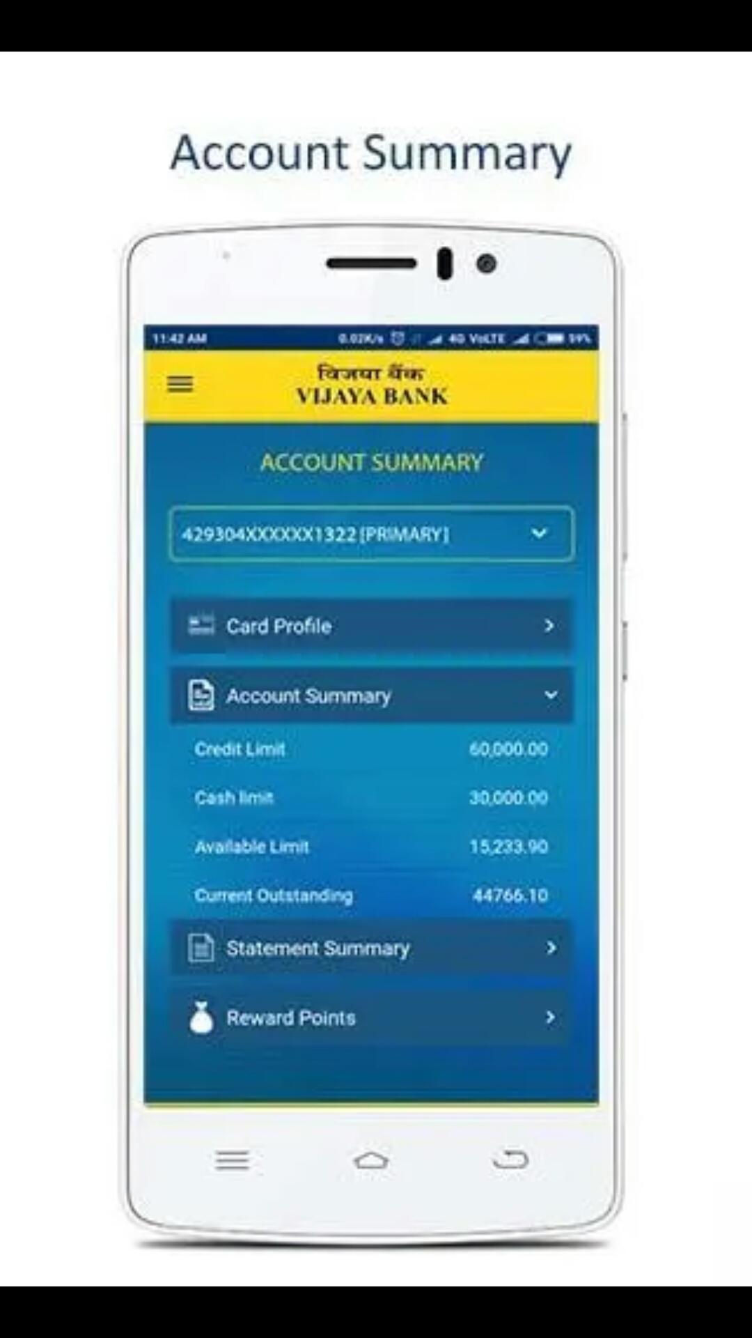 Vijaya Bank Credit Card