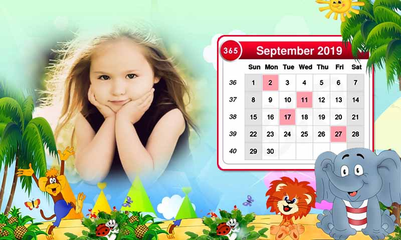Calendar Photo Frames 2019