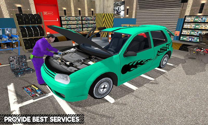 Car Mechanic Workshop: Robot Job