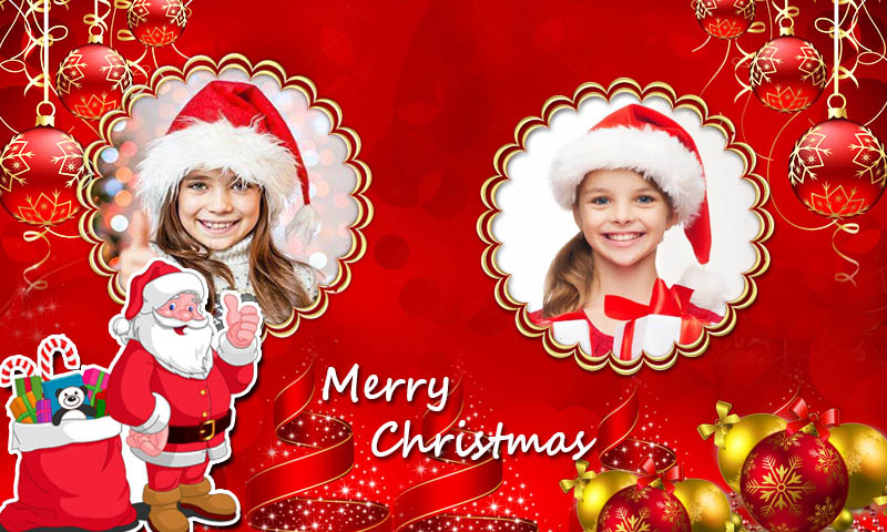Christmas Photo Frames Dual Christmas Greetings