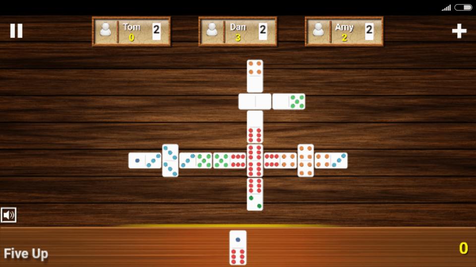 Fives Dominoes