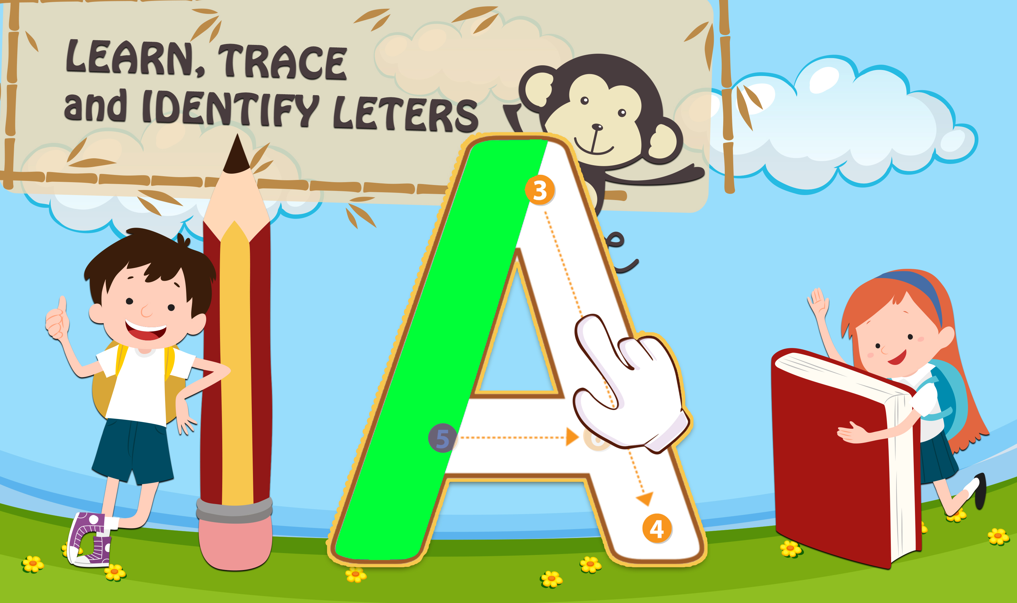 Learning ABC & Numbers kids - English Tracing