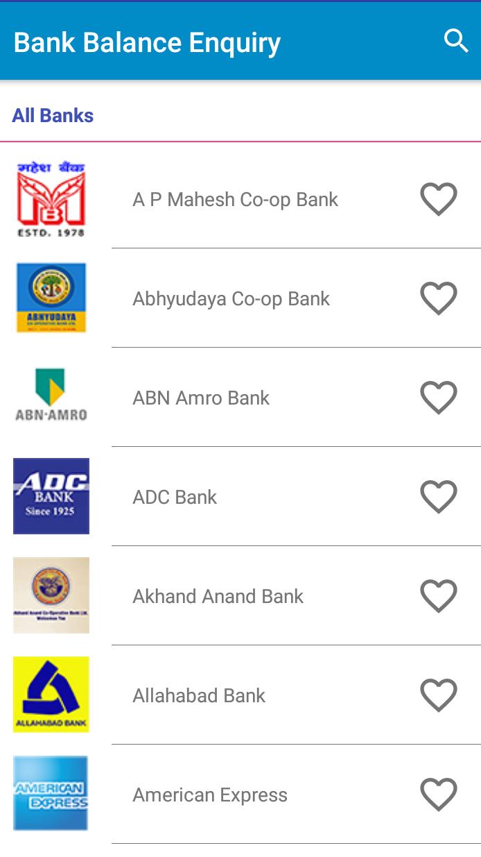My Bank Balance App