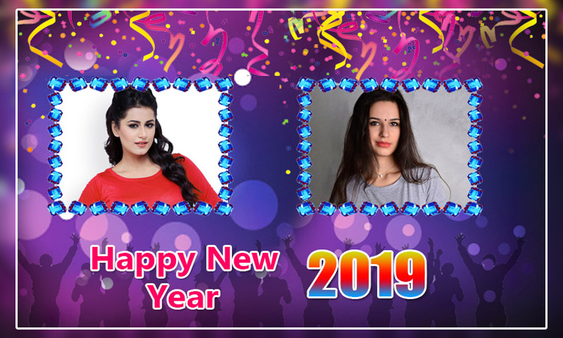 New Year Dual Photo Frames 2019