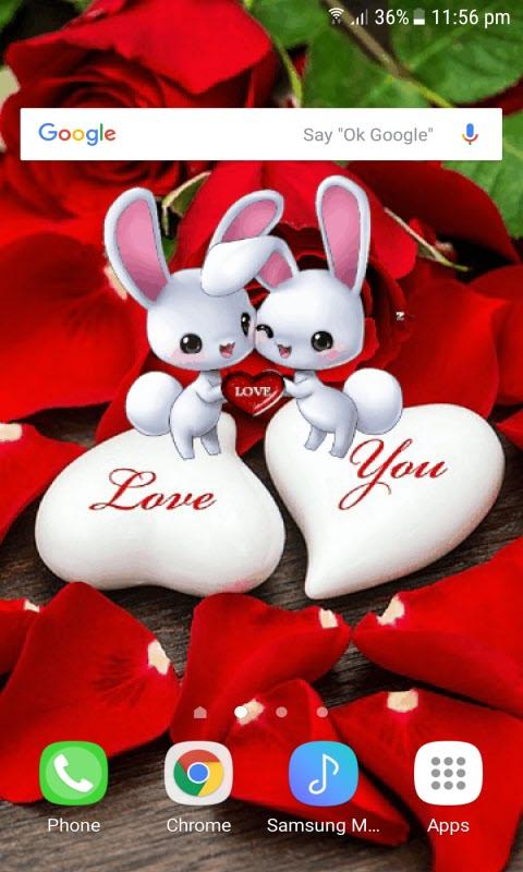 Romantic Rabbit Live Wallpaper