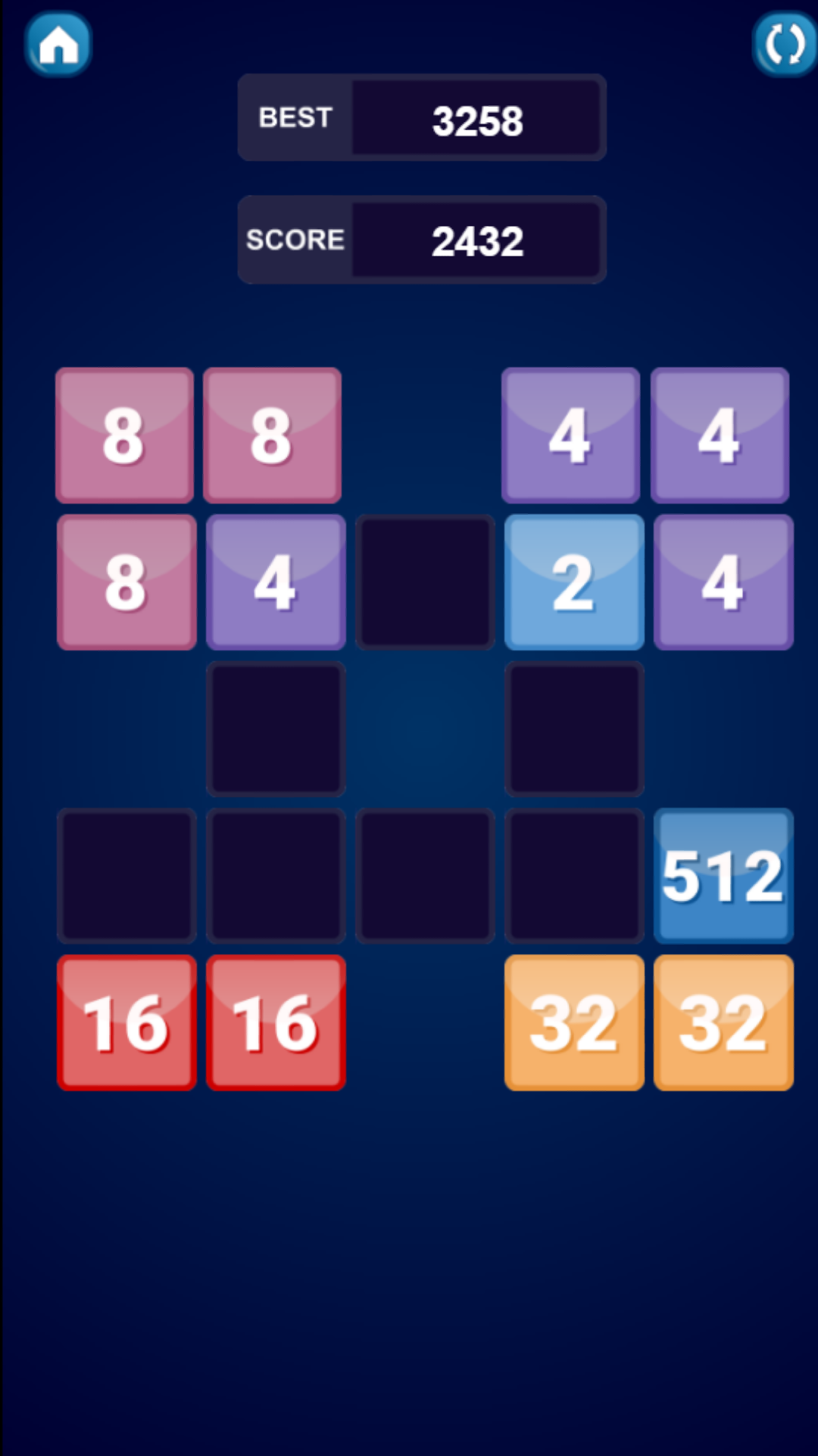 2048 Variation Boards Puzzle