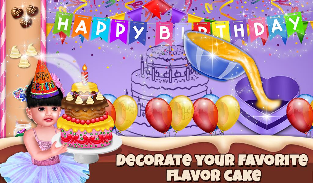 Baby Aadhya Birthday Cake Maker Cooking Game