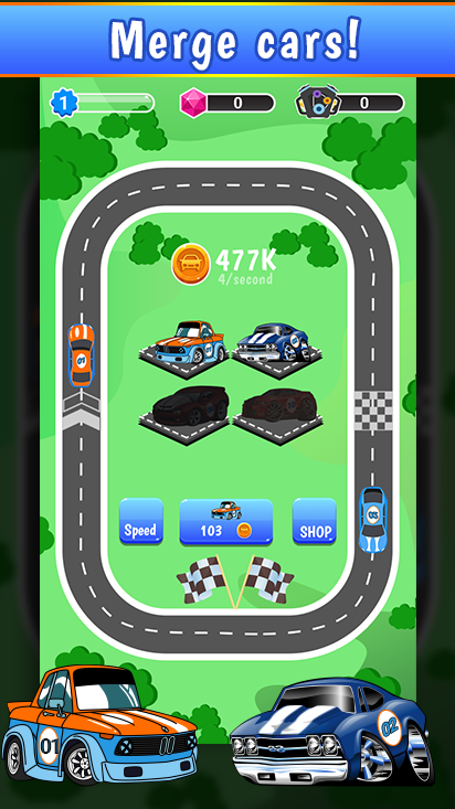 Car Merger - Idle Car Tycoon
