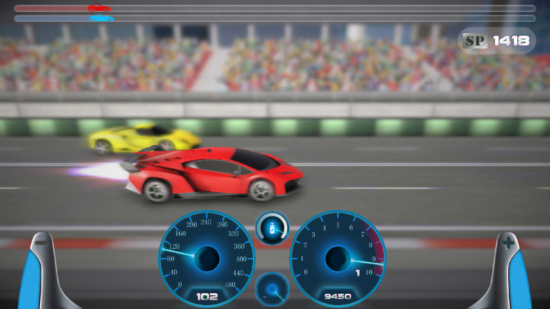 Drag racing - Top speed supercar