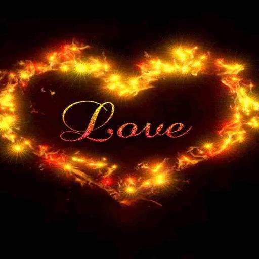 Golden Heart Live Wallpaper