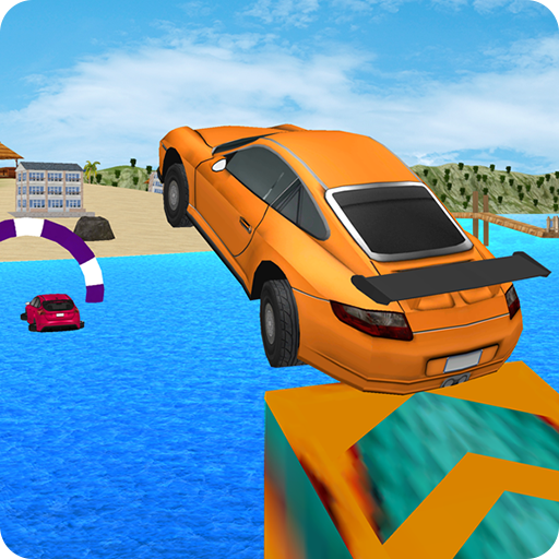 Kids Car Racing: Water Surfer Stunts