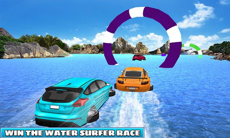 Kids Car Racing: Water Surfer Stunts