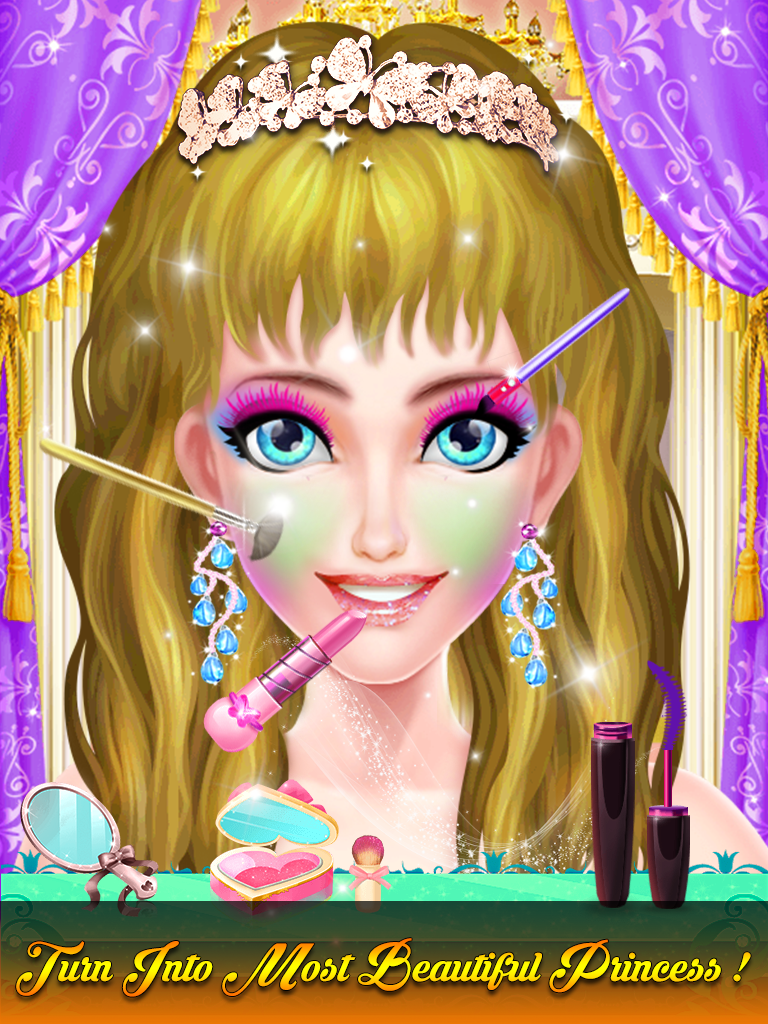 Princess Makeup And Dressup Salon Game For Girls
