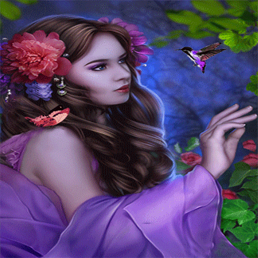 Purple Bird Beauty LWP