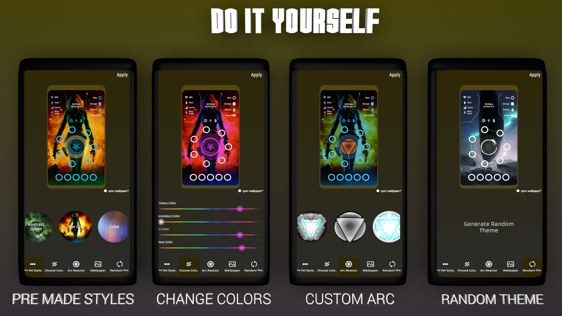 ARC Launcher 3D 2018 Themes, DIY , HD Wallpapers