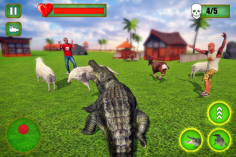 Crocodile Simulator 2019: Beach & City Attack