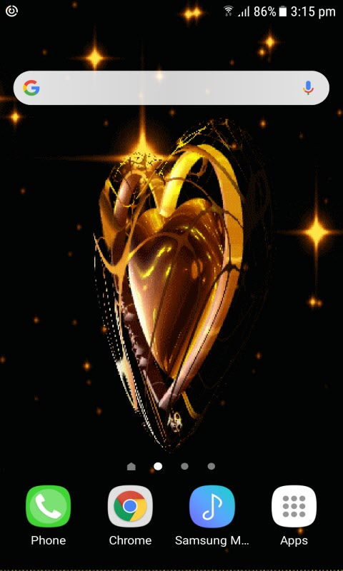 Golden heart swing LWP