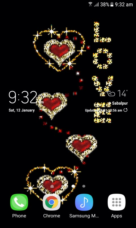Golden Love Live Wallpaper