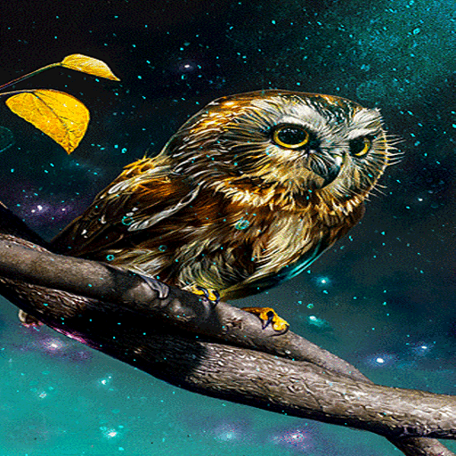 Golden Owl Live Wallpaper