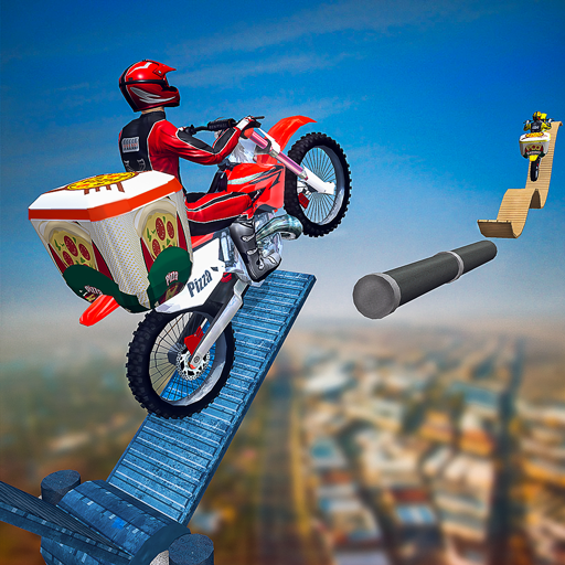 Mega Ramp Bike Stunts: Pizza Delivery