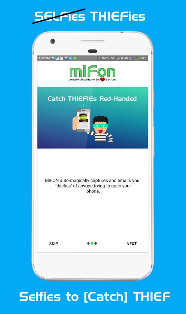 miFon - Phone Anti Theft & Personal Security Suite