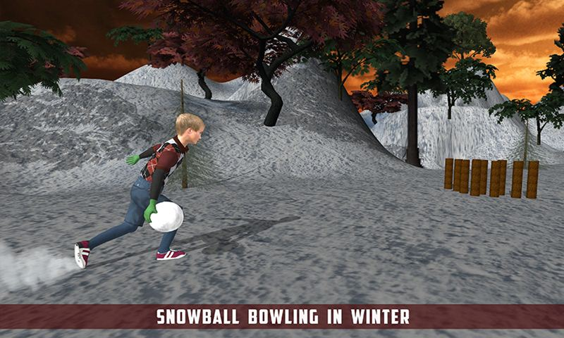 Snow bowling Smash
